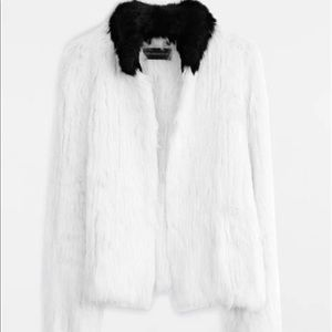 Zadig Voltaire rabbit fur jacket m